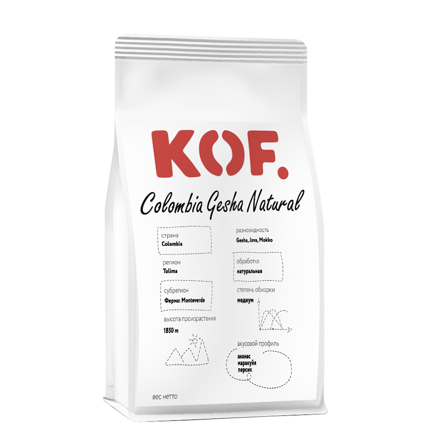 Кофе Colombia Gesha Natural